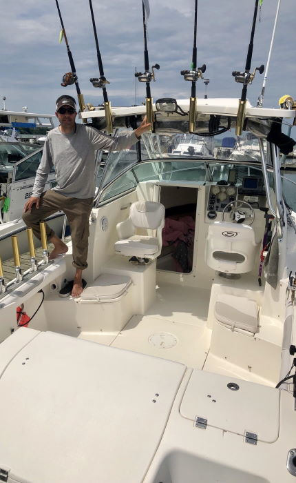 Guided Salmon and Trout Fishing Charters on Lake Ontario | St. Catharines, Ontario about-image About